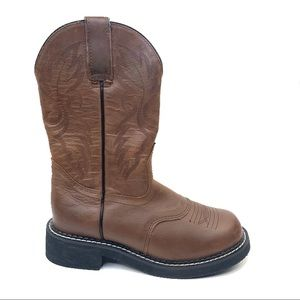 Western womens brown leather Boots sz 6